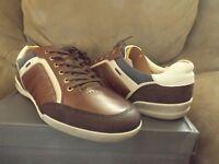 Ecco Enrico Lace Men's Casual Shoes Size13-13.5 Leather Coffee/cognac 537534