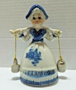 Vintage-Decorative-Dutch-Holland-Girl-Collectors-Bell