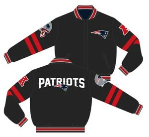 ed7003965 New England Patriots Jacket Charcoal Navy NFL Wool Reversible By JH ...