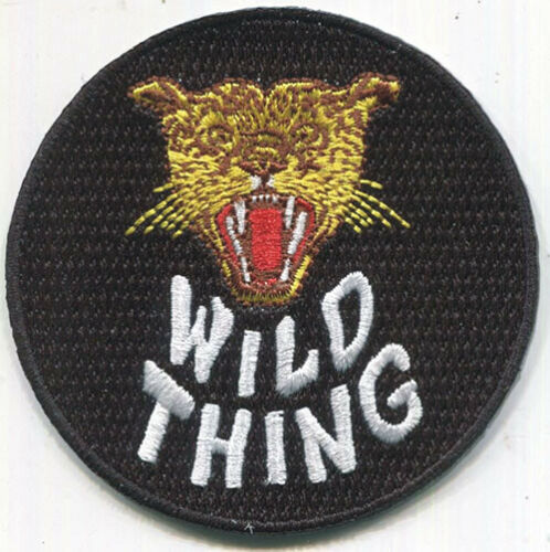 Iron On FREE SHIPPING! Stooges WILD THING embroidered Patch Iggy Pop