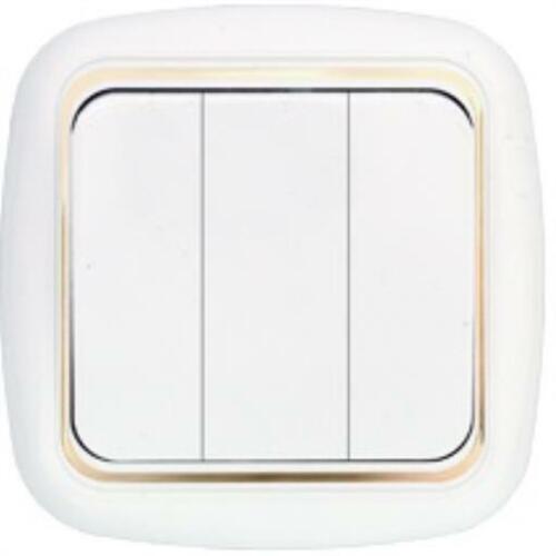 Unterputz Schuko Steckdosen Lichtschalter Rahmen Weiß//Gold serie Harmony-Lux
