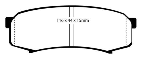 Nuevo EBC Yellowstuff Pastillas de freno delantero y trasero Kit de almohadillas de rendimiento padkit 2442