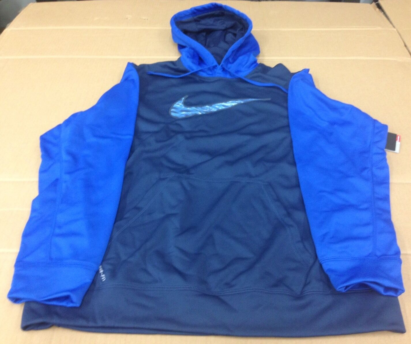 NIKE FLASH SWOOSH THERMA-FIT HOODIE 620171 EXTRA LARGE XL MSRP  blueE