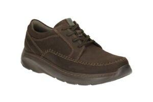 Cordones Hombre Nuevo Marrón Cuero Con Casuales Clarks Oxford Zapatos Charton vqwOw8