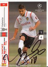Joaquin Sanchez FC Valencia Panini Card Uefa Champions Leaque 2007-08 +A36929