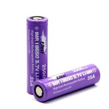2 Of Purple Efest IMR 18650 3.7V Battery High Drain 35A 2500mAh Li-Mn Battery