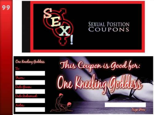 posizione sessuale coupon BOOKNaughty REGALO Saucy Voucher Sesso