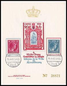 Blocco 1945 EDIZIONE 20 FR. Madonna di Lussemburgo