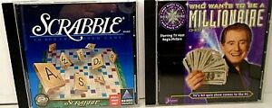 Lot-of-2-Complete-Games-PC-Mac-amp-CD-Rom-SCRABBLE-amp-WHO-WANTS-TO-BE-A-MILLIONAIRE