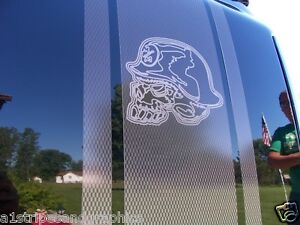 Carbon Fiber Metal Mulisha Skull Bed Stripe Stripes Silverado Ram - F250 decalsmulisha skullxwindow bed decal decals f f ram