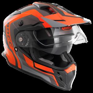 """casco endurohelm Raccordate/"""" 781/"""" CASCO MOTO IN NERO-Arancione 59//60 Taglia L"""