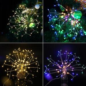 Firework LED String Hanging Starburst Fairy Strip Light Wedding Party Home Decor
