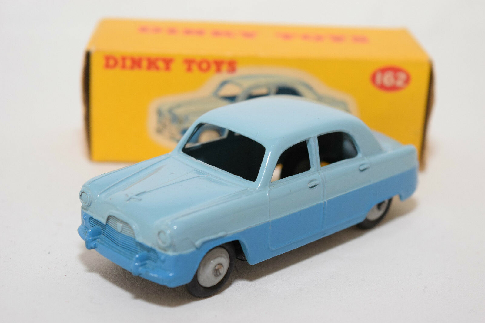 P DINKY TOYS 162 Ford Zephyr Saloon blu Factory error MINT BOXED RARE RARO
