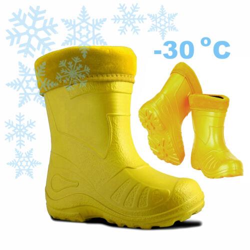 -30 degrees Rubber Children WINTER BOOTS Girl Boy Ultralight Insulated Wellies