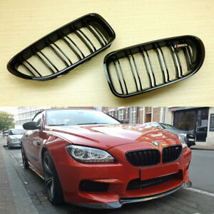 Shiny Black 12-17 Front Hood Grille For BMW F12 F13 F06 M6 Type 650i 640i