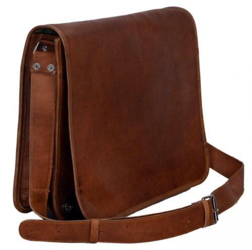 Men/'s Vintage Brown Indian Leather Messenger Shoulder Laptop Briefcase Bag NEW