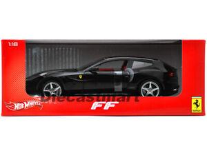 Hot-Wheels-1-18-X5526-Ferrari-Ff-V12-Cuatro-4-Plazas-de-Metal-Negro
