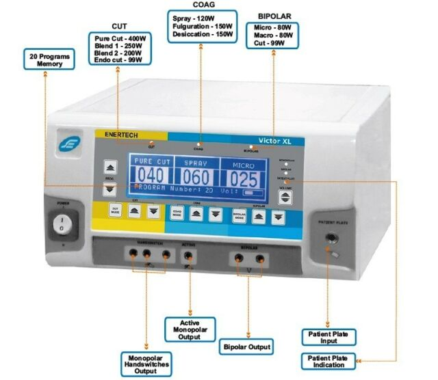 New Professional Diathermy Electrosurgical Generator High Frequency 400W Unit we