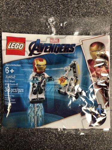 Lego Marvel Avengers Iron Man And Dum-E Polybag sealed 30452