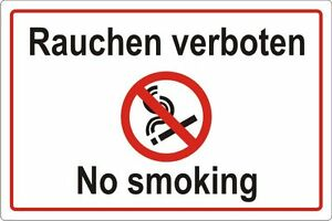 rauchen verboten rauchverbot hinweisschild no smoking art nr 3112 ebay. Black Bedroom Furniture Sets. Home Design Ideas