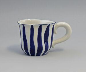 9942736-Porcelain-Mug-with-Frog-Blue-Striped-Wagner-amp-Apel-8-5-x-14-x-9-CM