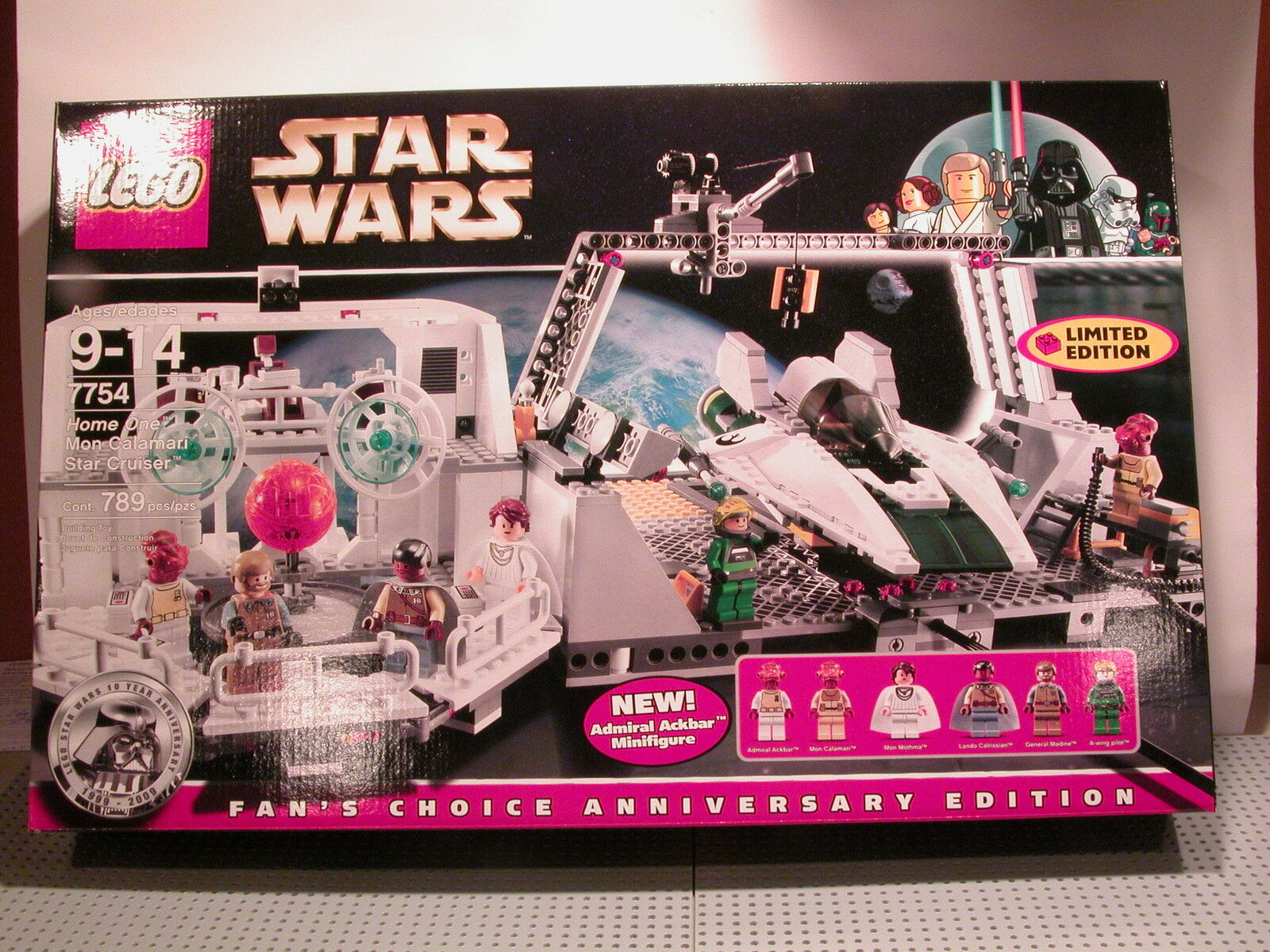 LEGO Star Wars 7754 Home One Mon-Calamari Star Cruiser NEW SEALED FAST SHIPPING