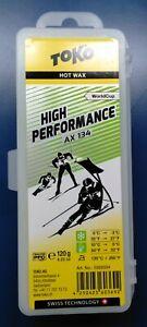 Toko Performance Yellow Wax 40g wet Hot race wax 0C to -6C