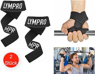 Zughilfen mit Neopren Polsterung 58x4cm Set Krafttraining Bodybuilding Fitness