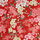 Japanese oriental Sakura Cherry Blossom fabric craft cotton fat quarter FQ#F0002