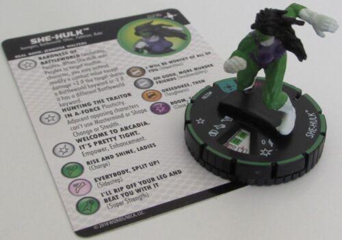 SHE-HULK 023B Secret Wars Battleworld Marvel HeroClix Prime