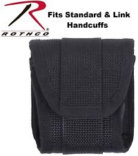 Black Handcuff Case Heavy Duty Cordur Nylon Police Standard Amp Link Cuffs 10574