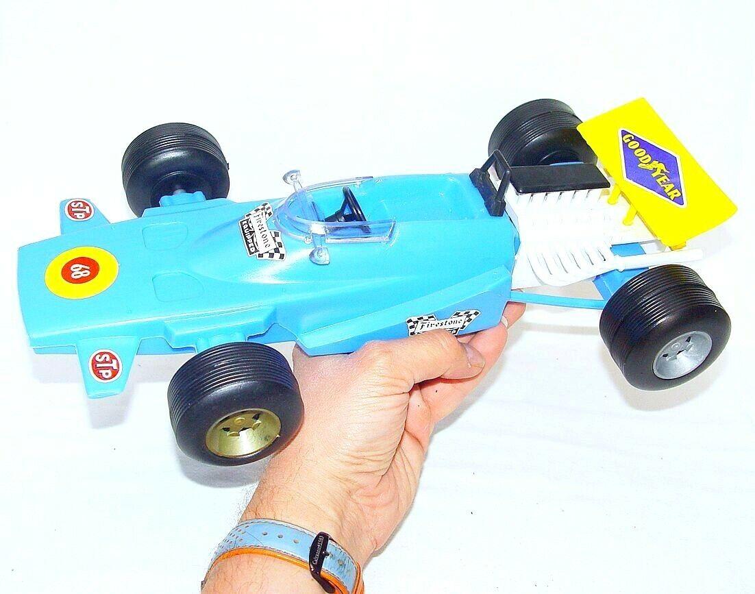 Sogimez Italie 1 14 MATRA MS-120 F1 voiture de course bleu PLASTIQUE 37 cm Big En parfait état, dans sa boîte`71 RARE