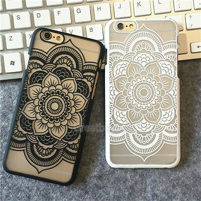 Henna Floral Mandala Hard Case Cover For iPhone5 6 6Plus 7 7Plus Paisley Flowers