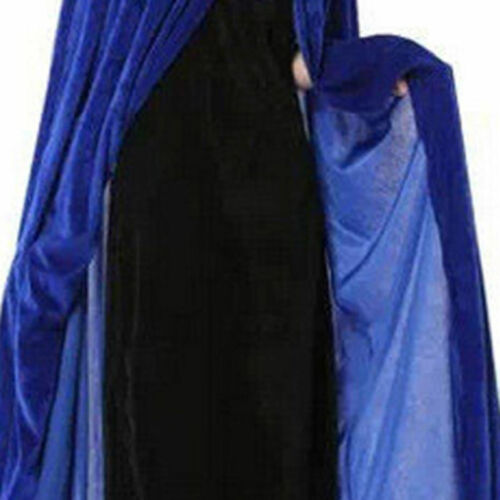 Halloween Party Witch Velvet Cloak Adult Hooded Cape Wedding Robe Costume