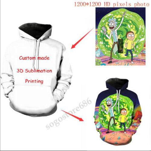 Customer's Own Design 3D Print Men/'s//women Sweatshirt Hoodies Tops Pullover Gift