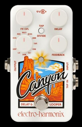 Electro-Harmonix EHX Canyon Delay and Looper Guitar Pedal with Power Supply
