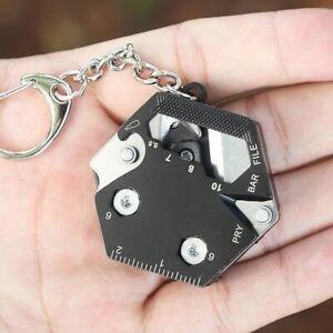 14 IN 1 Multifunctional Hexagon Folding Coin Tool Folding Hexagon Key Chain for Outdoor Camping Mini Folding Hexagon Screwdriver EDC Tools