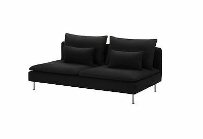 "Ikea Soderhamn 3 seat Sofa Slipcover  'NEW"" Replosa Black # 402.352.09"