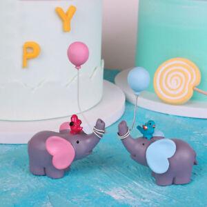 Groovy Elephant Balloon Lollipop Happy Birthday Cake Topper Dessert Birthday Cards Printable Inklcafe Filternl