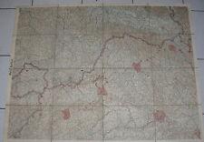 .Document militaria carte toilée  état major allemand  1914 WWI BELFORT METZ