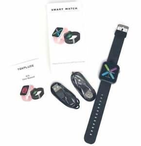 NEU Smart Watch Fitness Tracker Herzfrequenzsensor ip67 Wasserdicht Unisex Schwarz