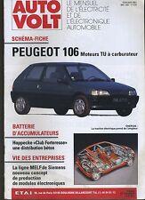 (11A) AUTO VOLT PEUGEOT 106 moteurs TU à carburateur Mai 1992 n°678