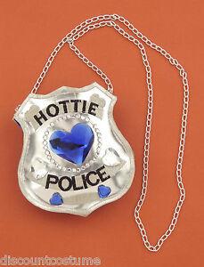 FORUM-HOTTIE-POLICE-SHIELD-BADGE-HANDBAG-HALLOWEEN-COSTUME-ACCESSORY-60746