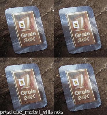 15 FIFTEEN GRAIN 24K PURE 999.9 FINE GOLD BULLION MINTED BAR