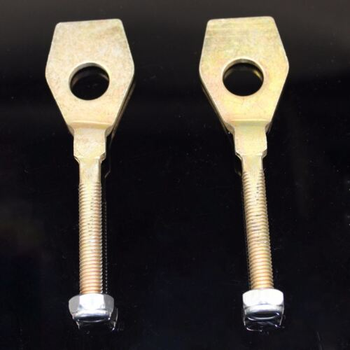 2x New  ATV Chain Adjuster Tensioner for 15mm axles 8mm thread, 113mm long