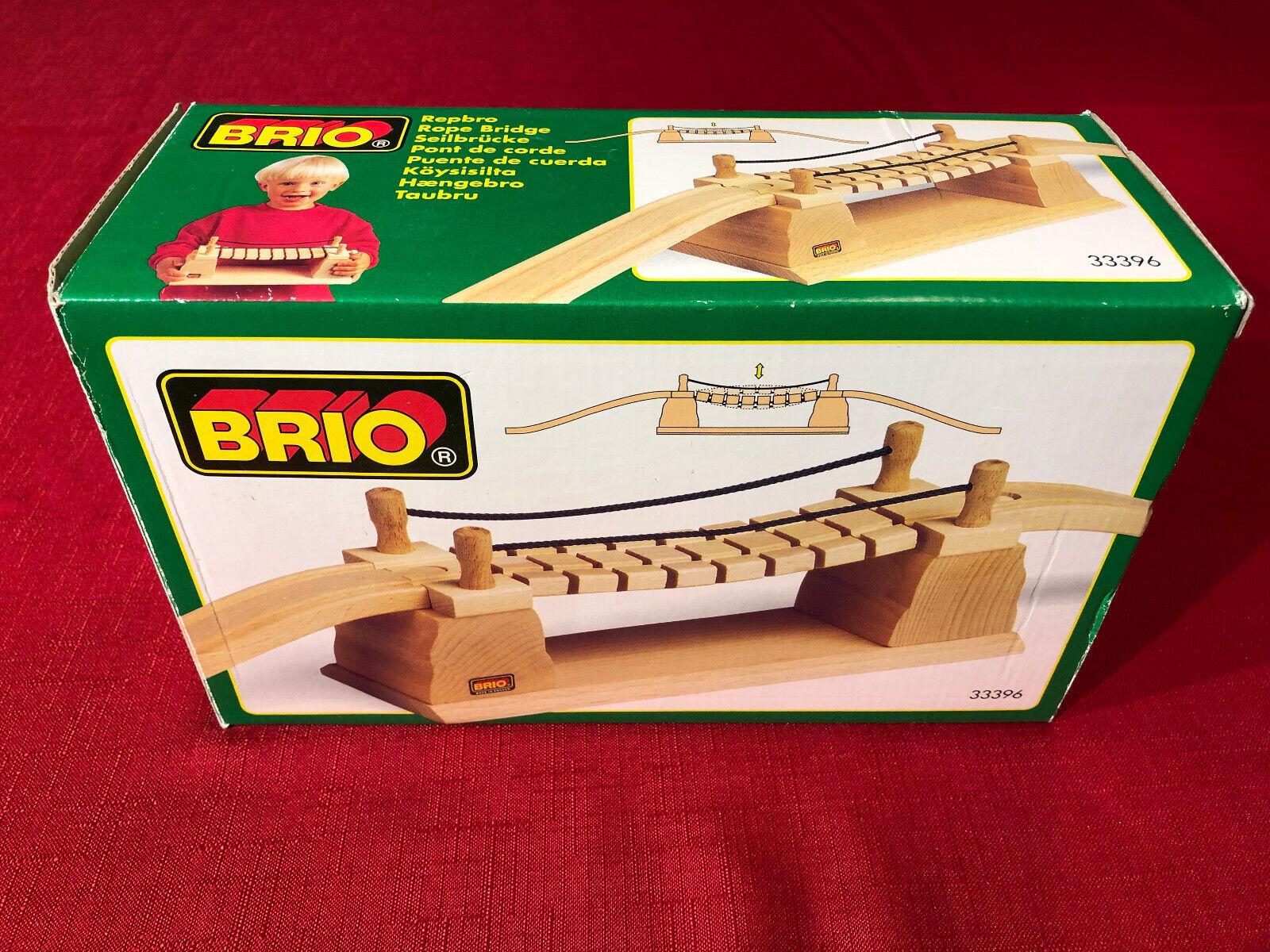 Brio 33396 Seilbrücke RARITÄT - wenig bespielt - - - OVP - TOP-Zustand - Rope Bridge 6af318
