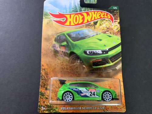 Hot Wheels Volkswagen Scirocco GT24 Grün Rally Rennen 1//64