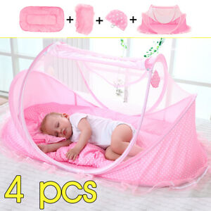 Baby-Mosquito-Nets-Bedding-Crib-Folding-Infant-Cot-Tent-Bed-Mat-Portable-Travel