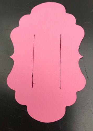 PLASTIC HAIR BOW TEMPLATE CARD  4 INCH