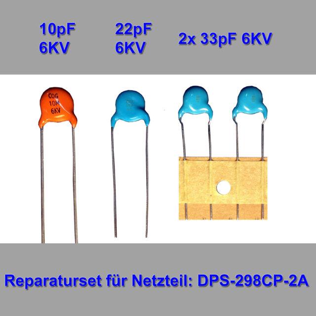 Netzteil-Reparaturset 10,22,2x33pF f. DPS-298CP-2A(PHILIPS 47PFL7404, 47PFL8404)